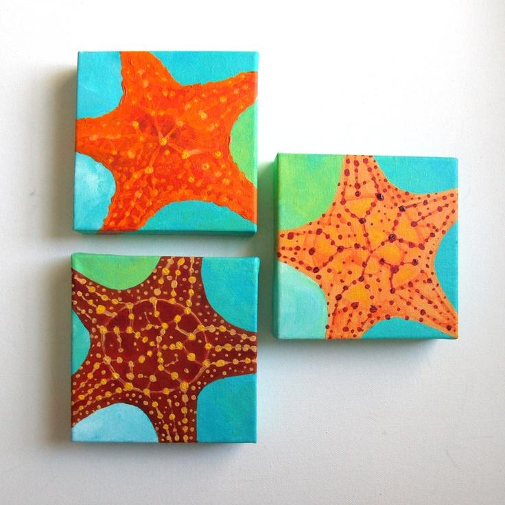 Starfish painting canvas