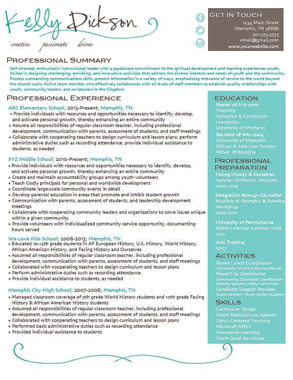 social media icon template resume design