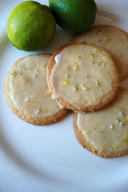 Lime Cornmeal Glazed Cookies | Food | Pinterest