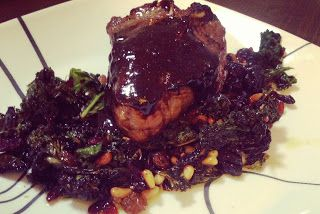 Lamb chops with a Guinness Glaze...made this last night, and it was ...