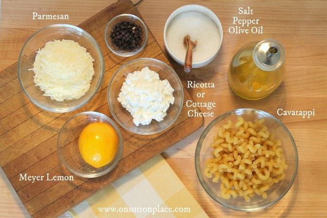 Lemon Pasta http://www.onsuttonplace.com/2013/01/meyer-lemon-pasta#