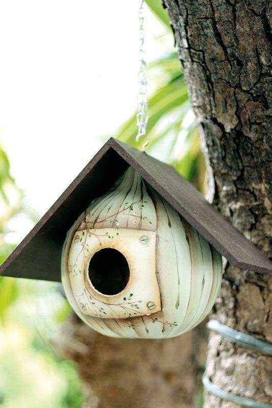 Gourd birdhouse...
