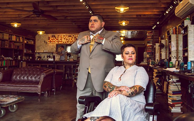 The Modern Man Barber Shop, located in Portland, Oregon. Portraits of ...
