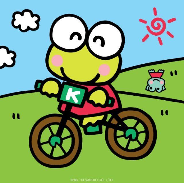 自転車に乗るケロッピー