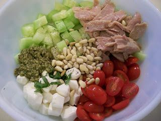 theworldaccordingtoeggface: Shelly's Tuna Caprese Salad #salads