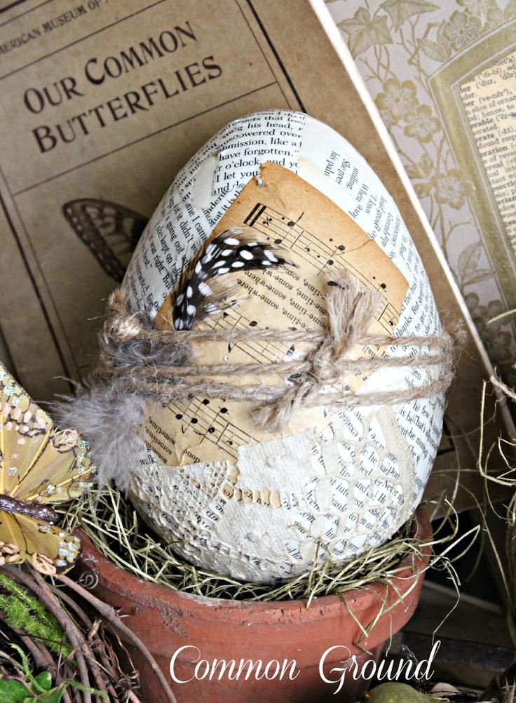 Common Ground papier mache egg
