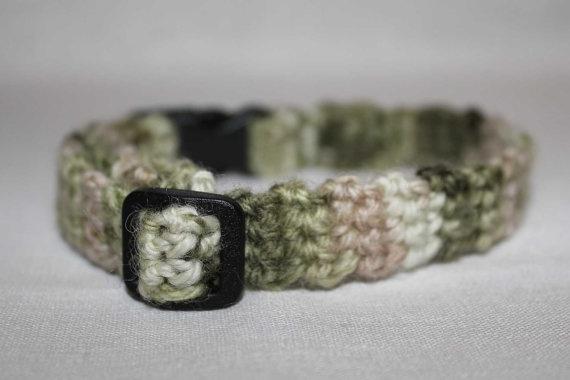 Crochet dog collar. Crochet Pattern For Dogs Pinterest