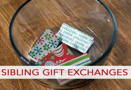 Sibling Gift Exchange Ideas Christmas Ideas Pinterest