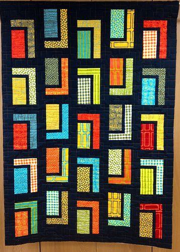 Quilt Pattern Urban Cabin : urban log cabin quilt Quilts2 Pinterest
