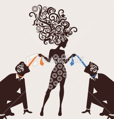 Dominant woman. Royalty Free Stock Vector Art Illustration