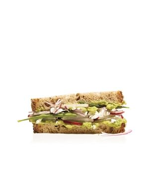 ... radishes. Get the recipe for Avocado, Radish, and Snow Pea Sandwich