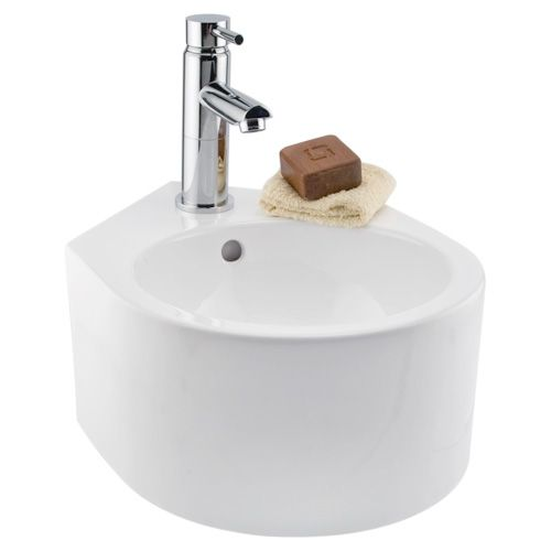 Wall Hung Corner Sink 12-3/8