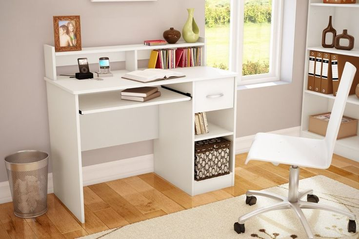 white desk home office furniture computer bedroom teen dorm kids work