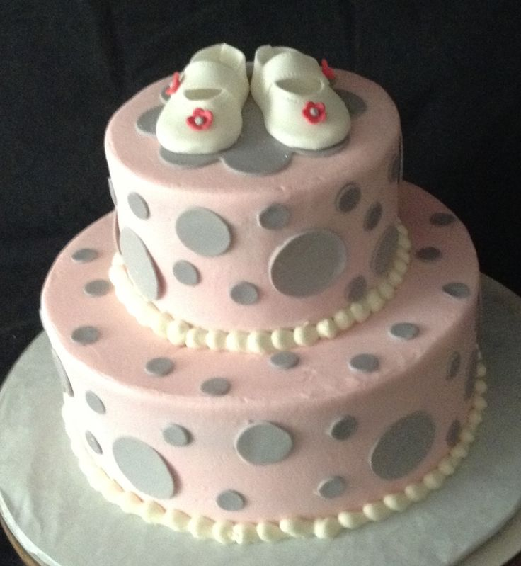 pink and grey baby shower cake cake decorator located in cumming