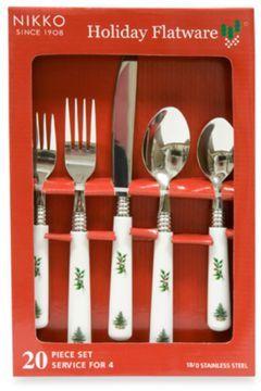 Nikko christmas time 20 piece flatware set on shopstyle com