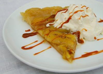 ... Tarte Tatin with Dulce de Leche Caramel Sauce and Rum whipped Cream