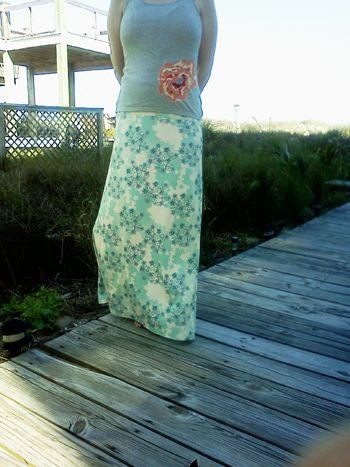 Nancy Dress to Maxi Skirt tutorial #DIY