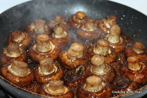 Glazed mushrooms - easy and delicious.