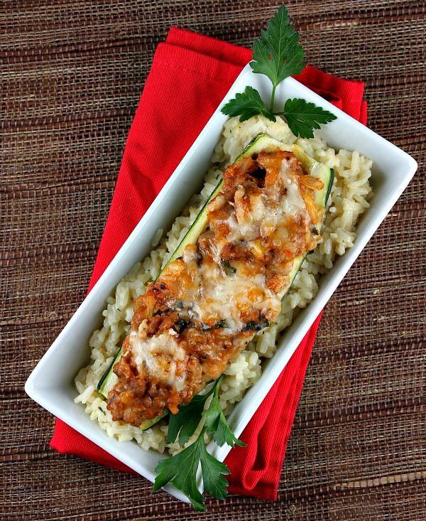 Stuffed Zucchini Boats | Recipe