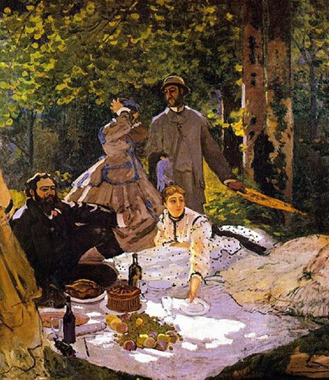 A Garden Party Camille Monet, her sister Annette, Frederic, and Claude Monet