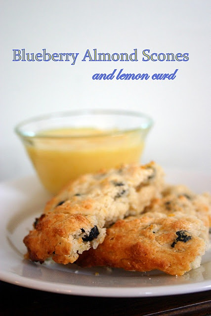 Blueberry Almond scones with lemon curd | Bread/Scones and muffins ...