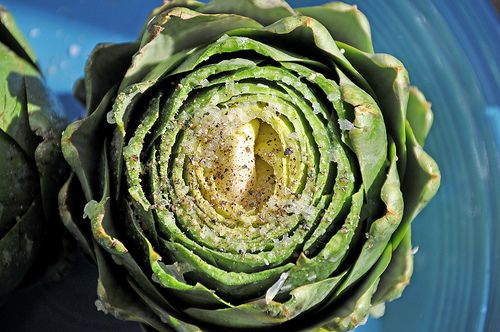 roasted artichokes-- I love artichoke hearts, but have never had an ...