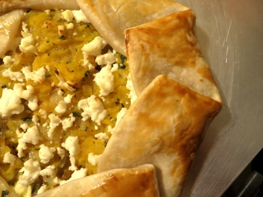 butternut squash, caramelized onion, and goat cheese galette - fall ...