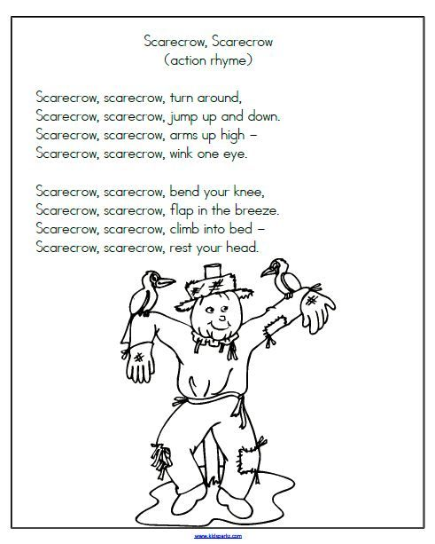 Scarecrow Action Rhyme