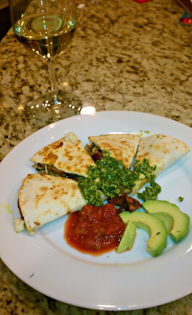 Black Bean and Roasted Sweet Potato Quesedillas with Swiss Chard Pesto ...