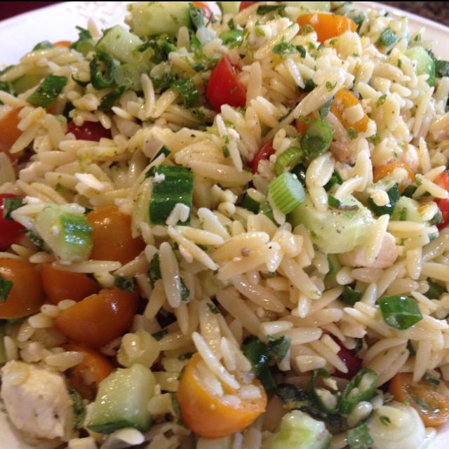 Cherry Tomato Orzo Salad Recipe — Dishmaps