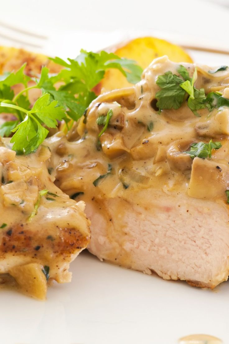 Chicken with Wild Mushroom and Balsamic Cream Sauce   KitchMe