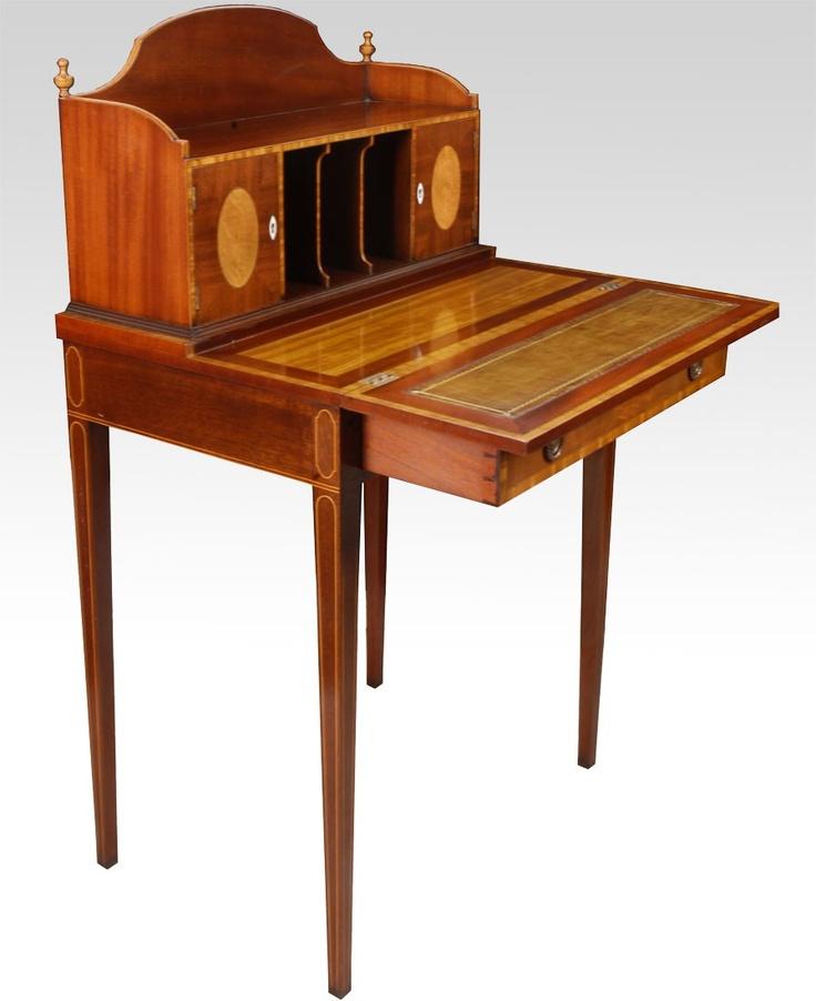Ladies Antique Mahogany Writing Desk Antiek Pinterest