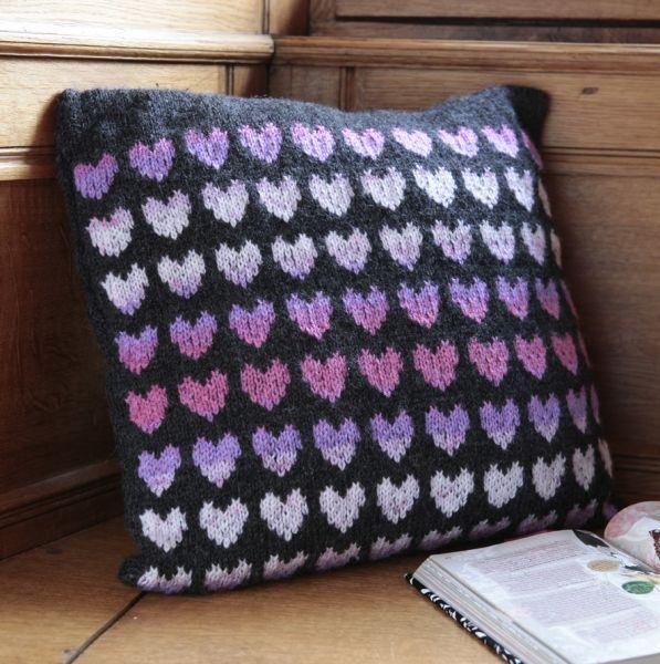 Free Soft Toy Knitting Patterns : Heart Print Pillow Pattern Hearts Pinterest