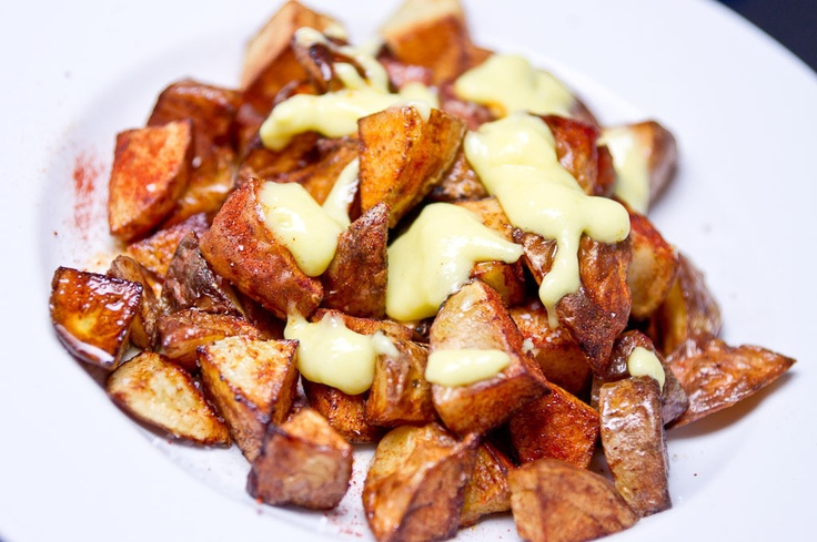 allioli olive oil and garlic mayonnaise potato tots bravas tortilla de ...