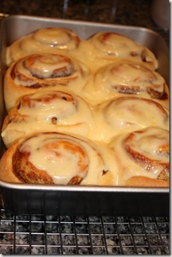 Cinnamon Rolls with Orange Cream Cheese Icing (P.D.- these are great)