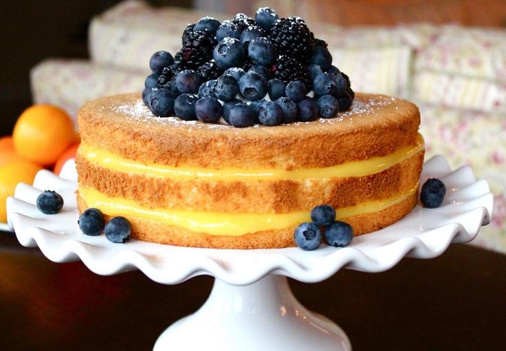Meyer Lemon Chiffon Cake | Sweets | Pinterest