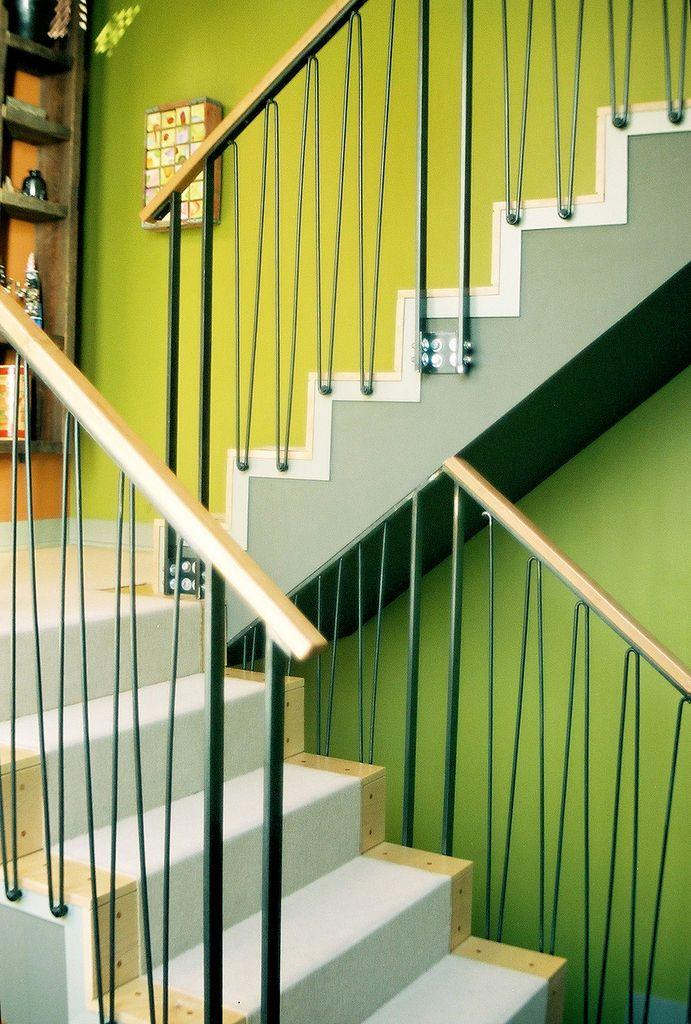 pin modern stair railing -#main