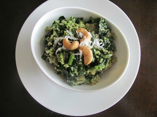 Veggie by Season: Coconut Quinoa and Kale Salad with Tropical Pesto