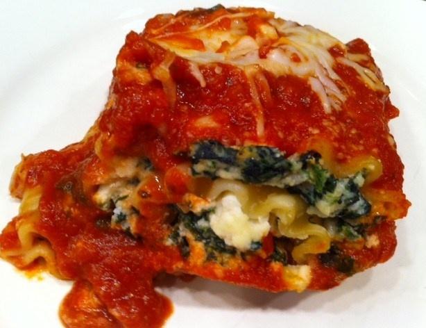Spinach Lasagna Rolls   Did it! - Food   Pinterest