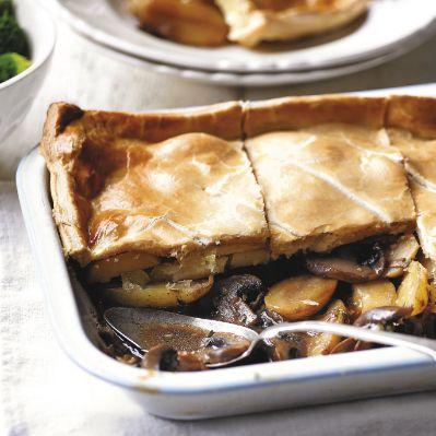 Mushroom, potato & thyme pie | Recipe