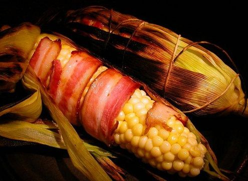 More like this: bacon wrapped corn , grilled corn and bacon wrapped .