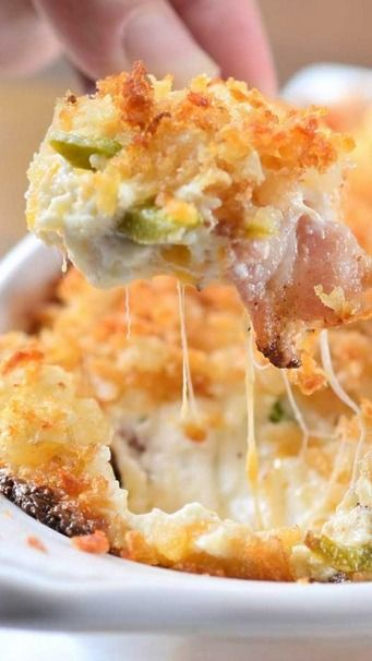 Cheesy Jalapeño Bacon Dip with Tater Tot Crust, I'll be making this at our next game night