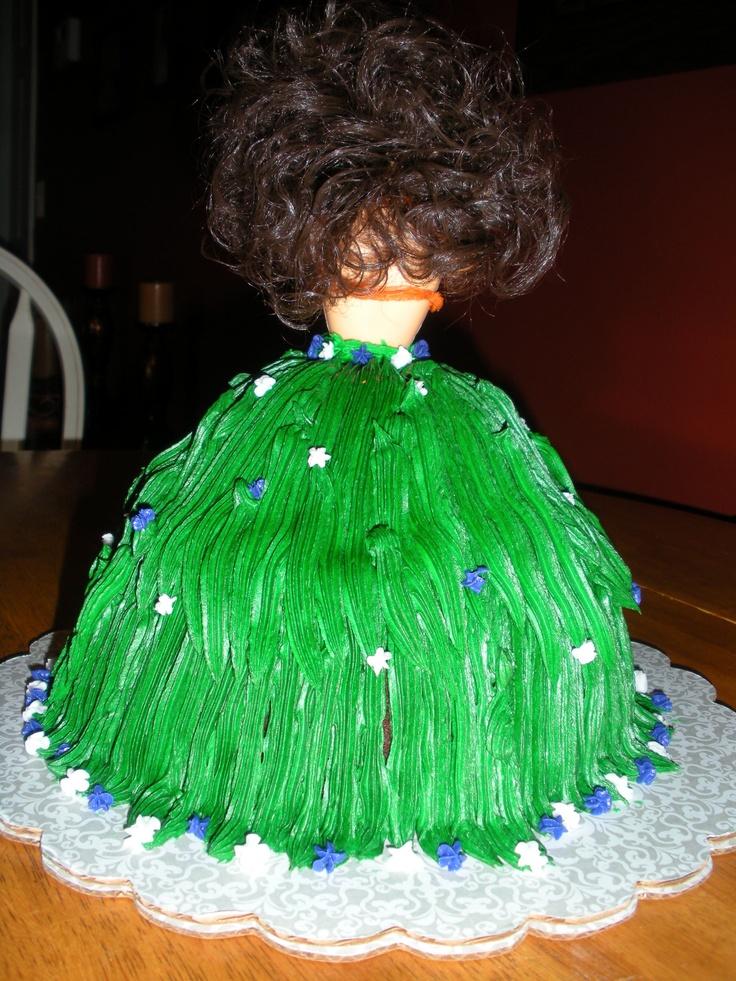 Hula Girl Cake Design : hula girl Cake decorating Pinterest