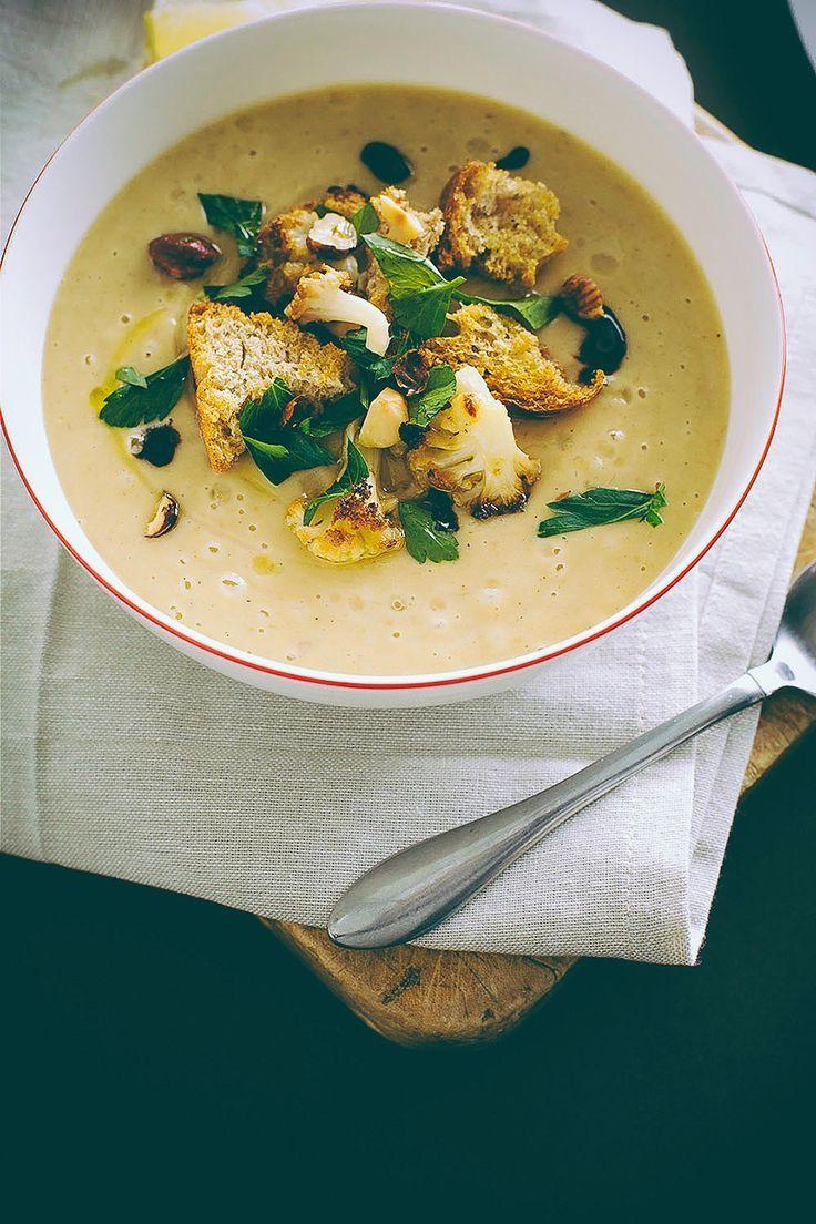 Roasted Cauliflower Soup | food | Pinterest