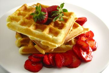 grain kernel and lots of fiber and nutrition • 2 whole-wheat waffles ...