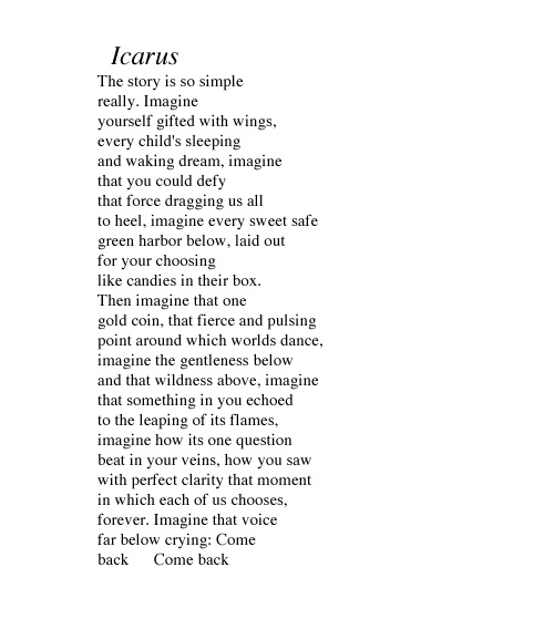 Waiting For Icarus - Poem by Muriel Rukeyser