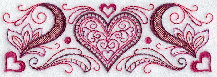 Vintage Valentine Border | Stitch it | Pinterest