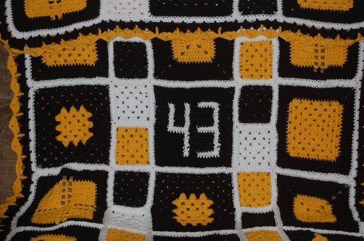 Crochet Pattern Steelers Afghan : Steelers Afghan !!!!!!!! etc. Pinterest