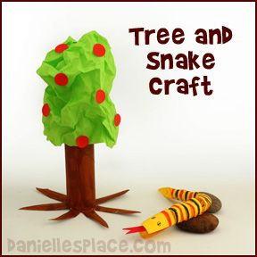 Garden of Eden Tree and Snake Craft