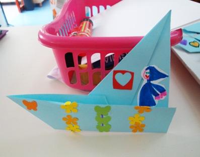 una facile barca origami